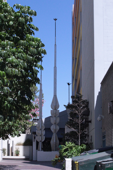 Downtown Los Angeles >> Michihiro Kosuge, Towers of Peace, Prosperity and Hope, Little Tokyo, Los Angeles