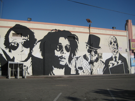 Thierry guetta mr brainwash mural of celebrities for Mural mr brainwash