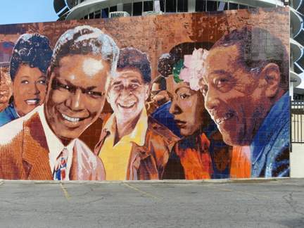 Richard wyatt hollywood jazz 1945 1972 hollywood for Duke ellington mural